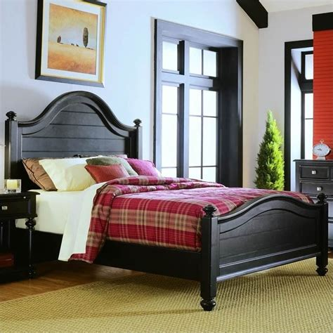 black panel bed american drew camden black poster panel bed 919 31xr