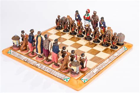 themed chess sets tribal chess set 187 kumbula shop