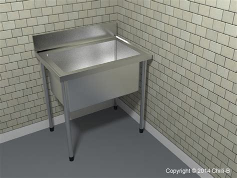 Pot Sink (P1) Stainless Steel with large bowls   Pot