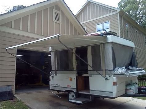 trail pop up awning awning leg relocation mod this is awesome since my bf is a