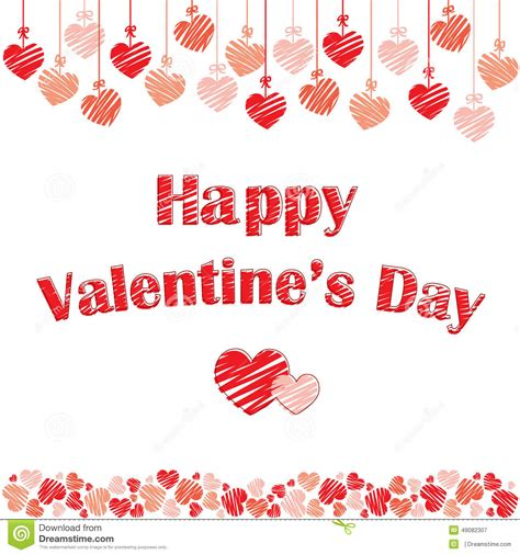 st valentines day photos postcard for st valentines day stock vector image 49082307