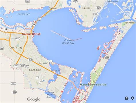 corpus christi on texas map map of corpus christi world easy guides