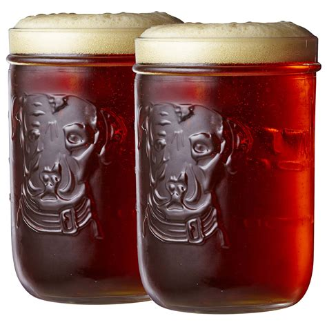 set   lagunitas mason jar  oz pint glasses buy  guys