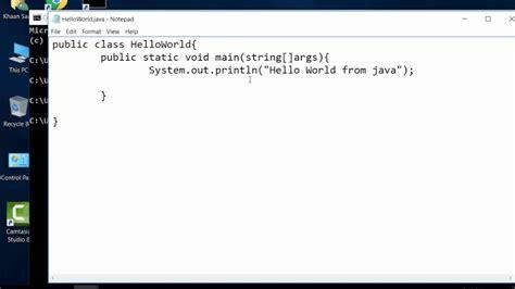 Java Tutorial Using Notepad   how to write helloworld java program using notepad cmd