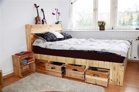 pallet bedroom ideas diy pallet bed with storage ideas photo pallet furniture