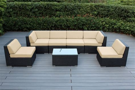 sunbrella fabric sectional sofas ohana collection 7pc sunbrella outdoor sectional sofa set
