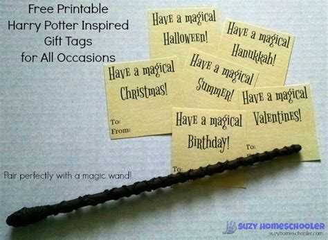 free printable gift tags for all occasions harry potter inspired wand tutorial and free printable