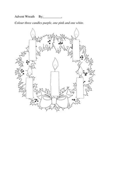 blank wreath coloring page advent wreath colouring sheet five candles by jafflepie