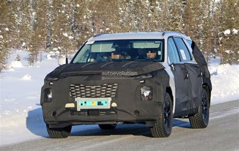 Kia Large Suv 2020 by 2020 Hyundai Eight Seat Large Suv Spied Benchmarking