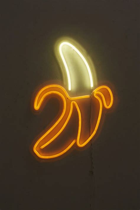 banana neon sign urban outfitters