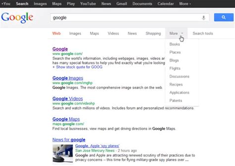 google images filter google tests top down search options filters