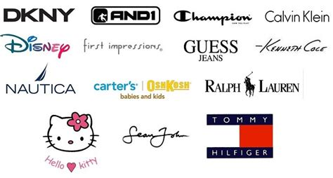 Brand Clothing An 9 best images of brands names clothes logos name brand