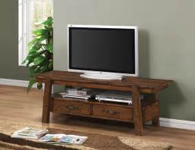 Delightful Black Brown And White Living Room #4: Outstanding-costco-tv-stand-bayside-flat-screen-tv-stands-wood-television-wooden-table-with-rack-dvd-player-vcd-books-plant-wooden-floor-brown-carpet-gray-wall.jpg