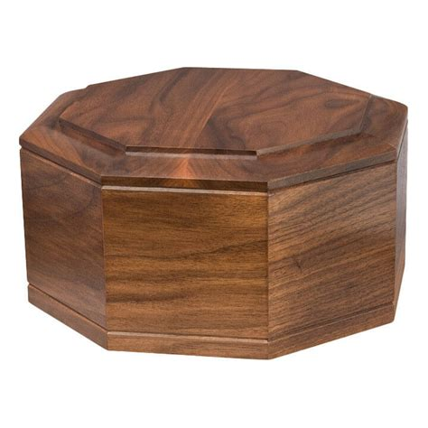 wood cremation urn wooden urns walnut octagon ebay