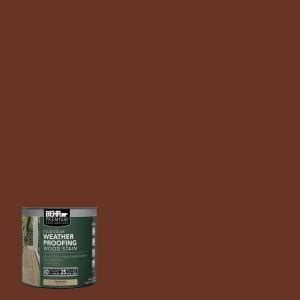behr premium 8 oz sc118 terra cotta solid color weatherproofing all in one wood stain and