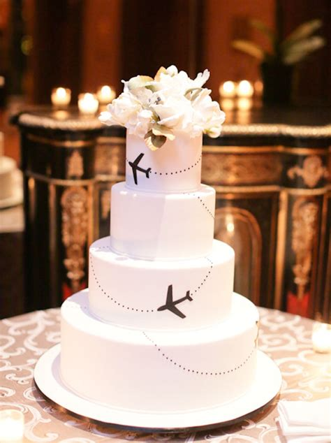 travel themed wedding cakes southbound bride