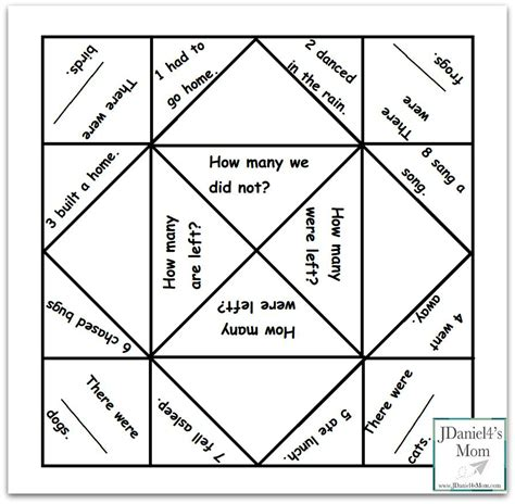 printable word problem math games cool math games word problem fortune teller