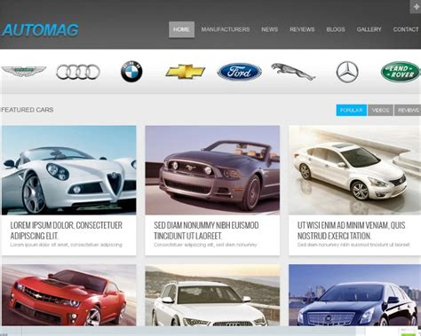 website templates for used car dealers 19 car dealer website themes templates free premium