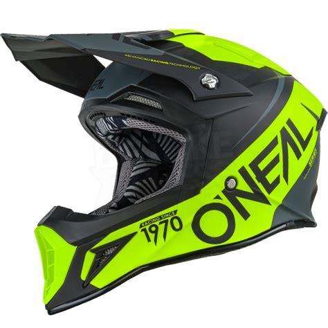 neon motocross gear 2017 oneal 10 series flow motocross helmet black neon
