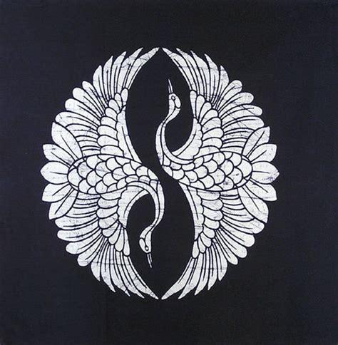 mandala tattoo japanese japanese indigo two cranes batik panel mandalas patterns