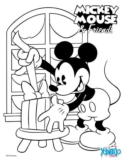 dibujos de mickey mouse para colorear en linea gratis disney dibujos para colorear mickey navidad es hellokids com