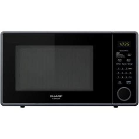 sharp 1 1 cu ft countertop microwave in smooth black r