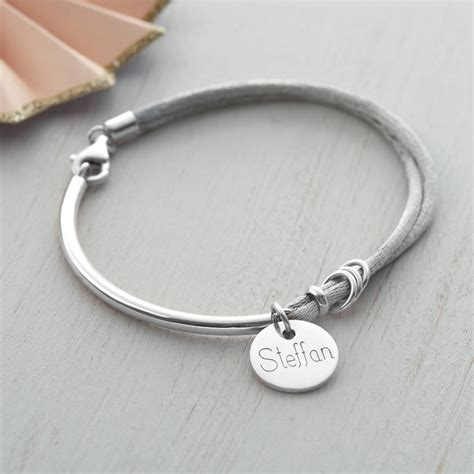 Charm Silver by Engraved Silver Bracelet Charms Jewelry Ufafokus
