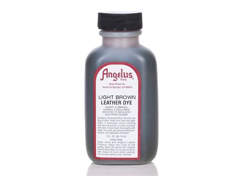 Leather Dye Brown by Angelus Dyes Paint Light Brown 3oz Leather Dye