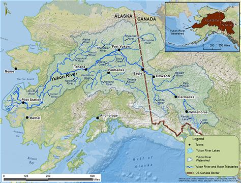 yukon river map chinook stock assessment research project alaska department of fish and