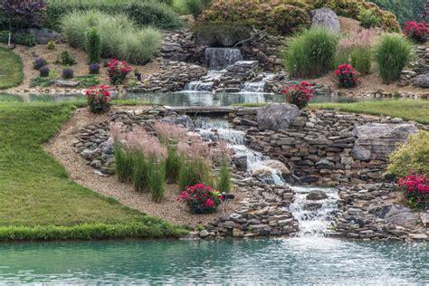 Rock Garden Pond 53 Backyard Garden Waterfalls Pictures Of Designs Designing Idea