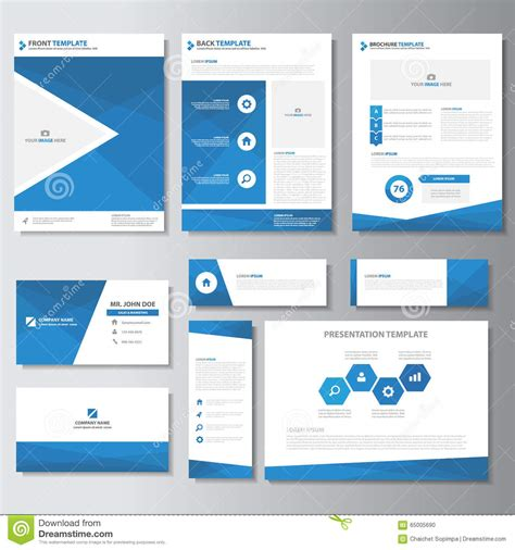 presentation cards templates blue business brochure flyer leaflet presentation card