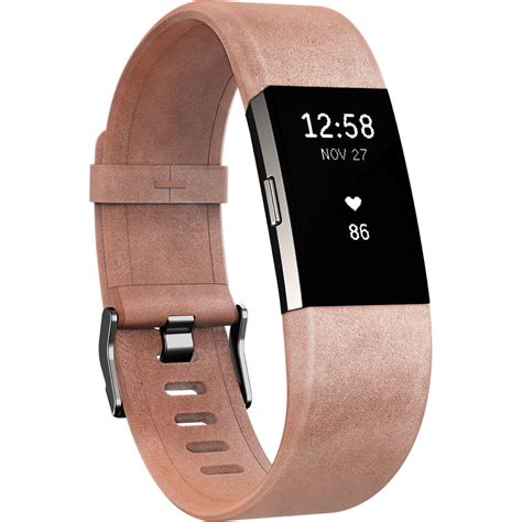 fitbit luxe leather band for fitbit charge 2 fb160lbpkl b h
