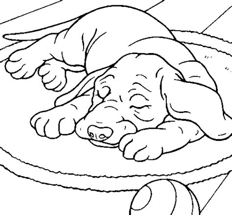 sleeping puppies coloring pages sleeping dog coloring page coloringcrew com