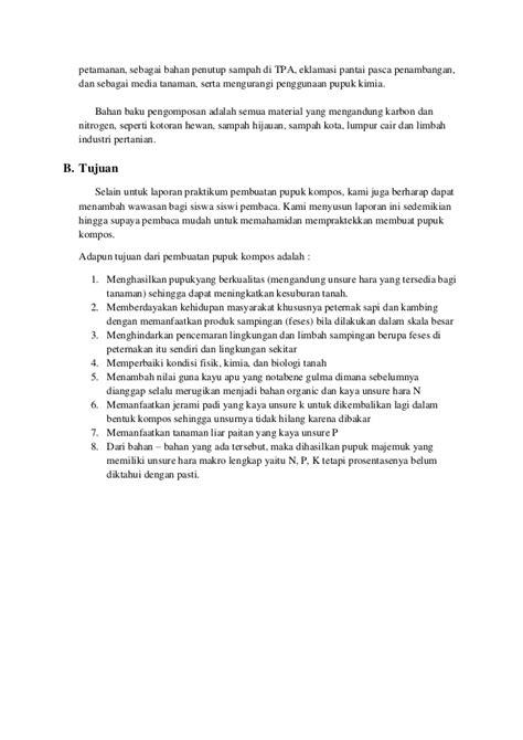 laporan praktikum membuat gas karbon dioksida laporan praktikum pupuk kompos