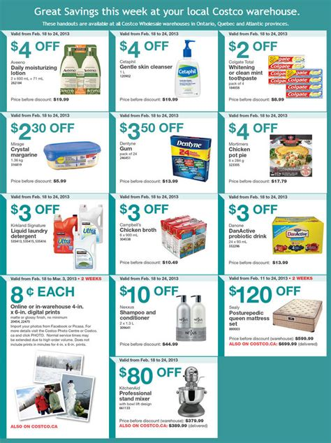printable grocery coupons ottawa costco weekly handout instant savings coupons feb 18 24