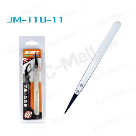 Jakemy Anti Static Tweezers With Replacing Jm T10 11 Jakemy Jm T10 11 Stainless Steel Anti Static Tip Tweezers With Replacing Tvc Mall