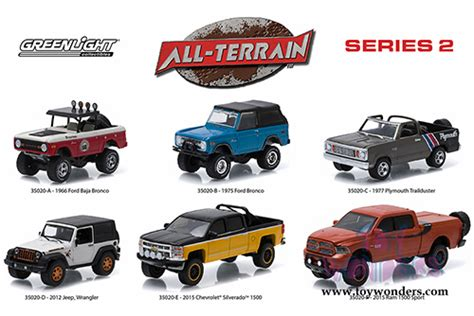 Greenlight 164 Seri2 All Terrain2012 Jeep Wrangler all terrain series 2 assortment 35020 48 wholesale diecast model car