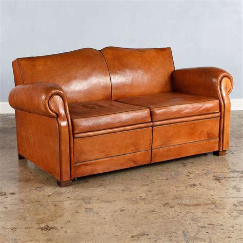 club leather sofa french art deco leather club sofa 1930s at 1stdibs