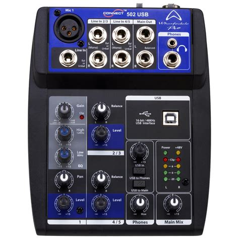 Mixer Wharfedale wharfedale pro connect 502usb micro mixer commercial