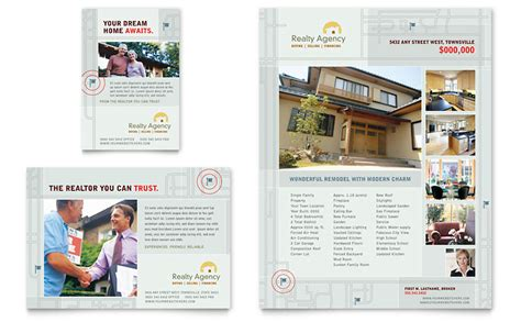 Real Estate Agent Realtor Flyer Ad Template Word Publisher Microsoft Real Estate Templates
