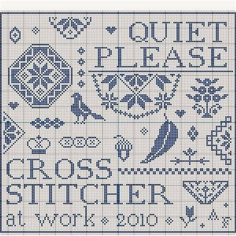 html pattern plz n e e d l e p r i n t quiet please cross stitcher at