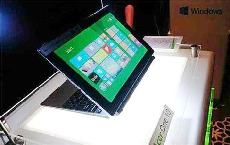 Laptop Acer Yang Bisa Jadi Tablet baru rilis notebook hybrid acer one 10 juga bisa jadi tablet kabar berita artikel