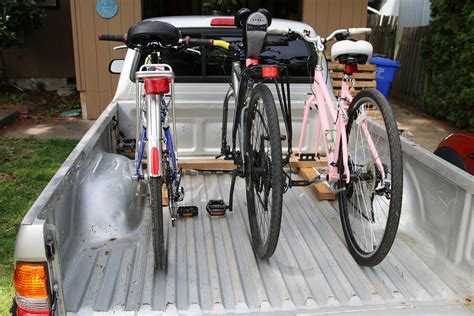 diy bike rack for truck bed diy bike rack for any truck bed 33 build stuff
