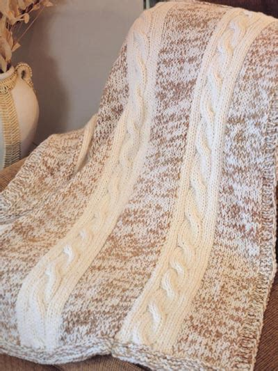 knitted afghans knitting cables autumn aran afghan