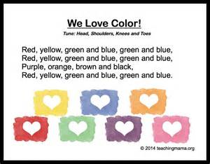 color song 10 preschool songs about colors
