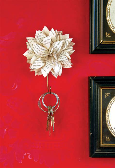 How To Make A Paper Key - paper flower key holder 183 craft finds 183 cut out keep