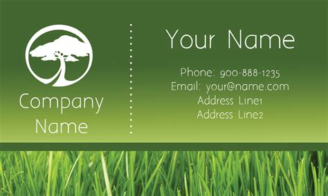 tree service free business card template tree care green business card design 1304111