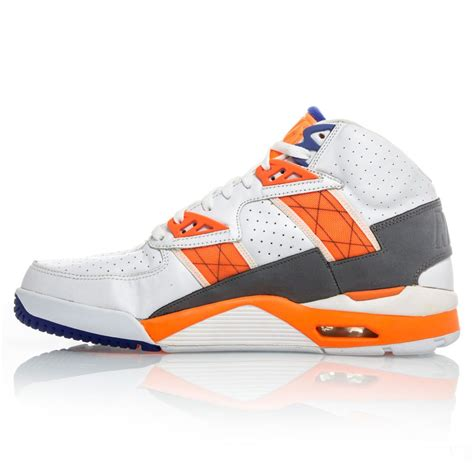 orange and white nike basketball shoes nike air trainer sc high mens basketball shoes white
