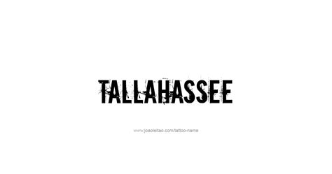 tattoo tallahassee tallahassee usa capital city name designs tattoos