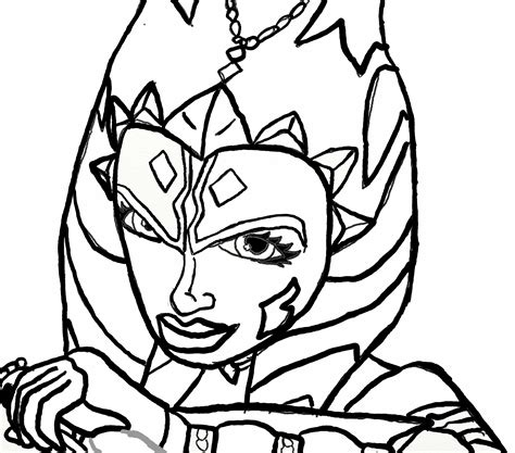 ahsoka tano coloring pages qlyview com